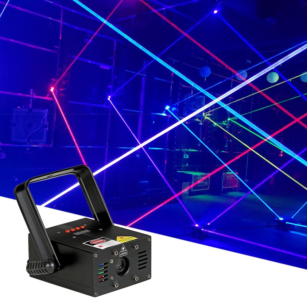 2W RGB Beam Laser Light 7CH Stage DJ Disco Full Color Party Beam Effect Light Wedding Christmas Bar Club Laser Beam Lights