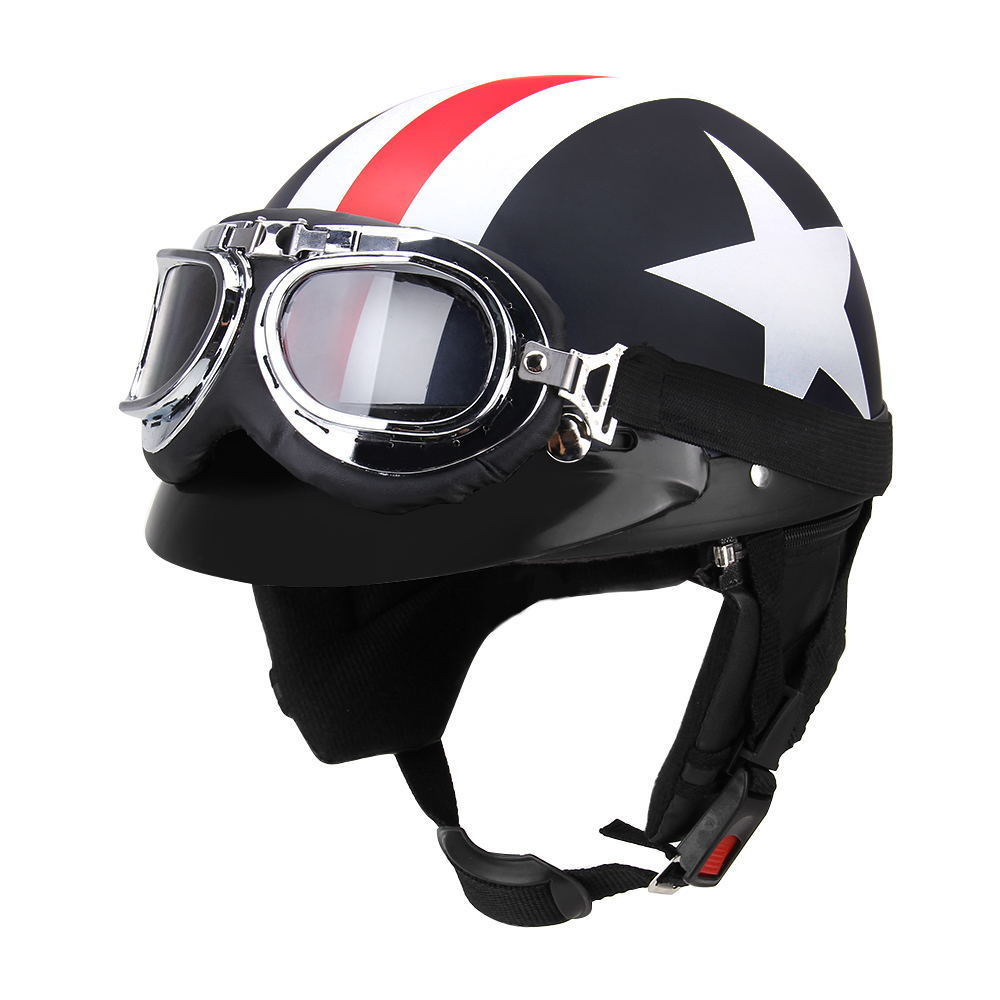 adult leather harley helmetsmask detachable goggles and mouth filter perfect vintage motorcycle helmet open face motorcycle Half Open Face Vintage motorcycle helmet half helmet Retro moto casco capacete motociclistas capacete with Goggles