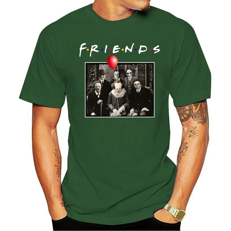 NEW Horror Friends Pennywise Michael Myers Jason Voorhees Halloween T Shirt Men Women Tee Shirt All Size printio jason voorhees