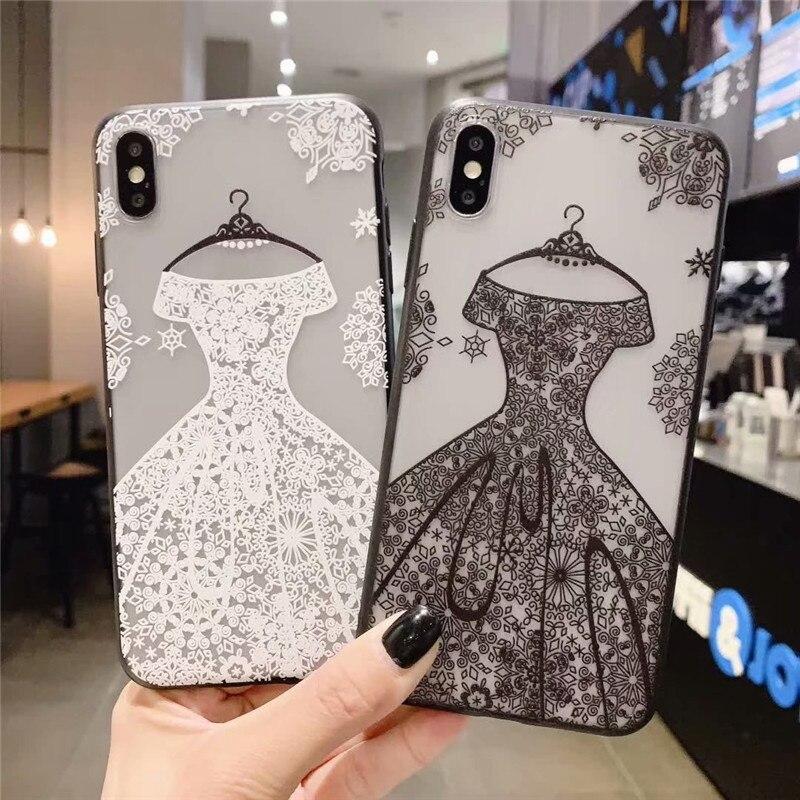 De encaje de boda Vestido niña caso para Samsung Galaxy A50 A30 A70 cubierta Note9 Nota 10 S9 S10 S8 j3 J7 J4 J6 A8 A7 A9 2018