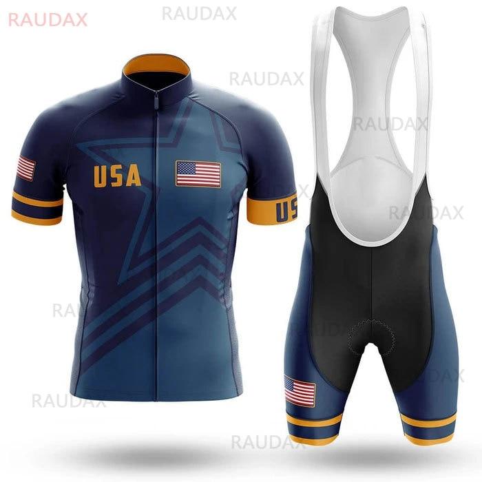 Conjunto De Maillot De Ciclismo del equipo profesional De EE. UU., Ropa...