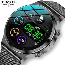 LIGE 2021 New Smart watch Men IP68 waterproof watch Multiple sports modes heart rate weather Forecas