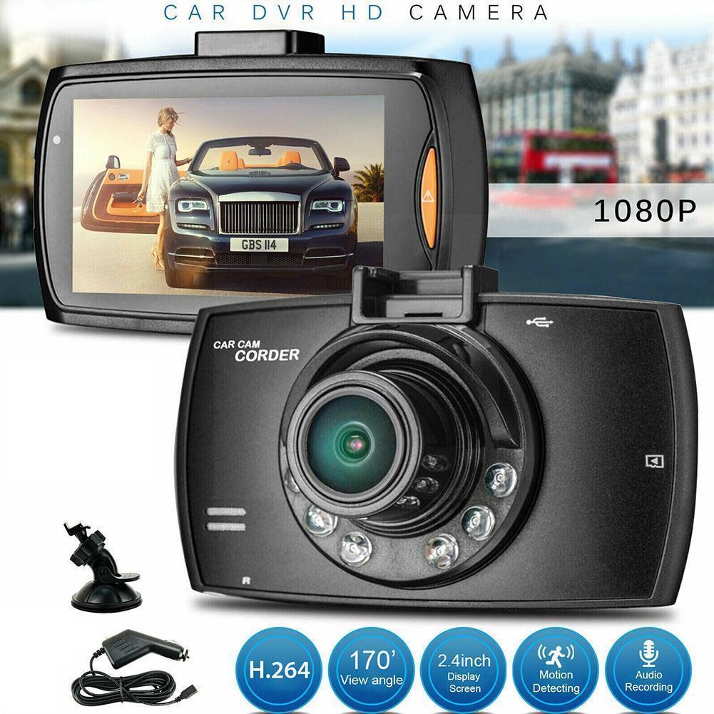 Автомобильный видеорегистратор, видеорегистратор с камерой 2,4 дюйма, ЖК-дисплей, автомобильная камера s Vision 1080P, ночная камера HD, видеорегист...