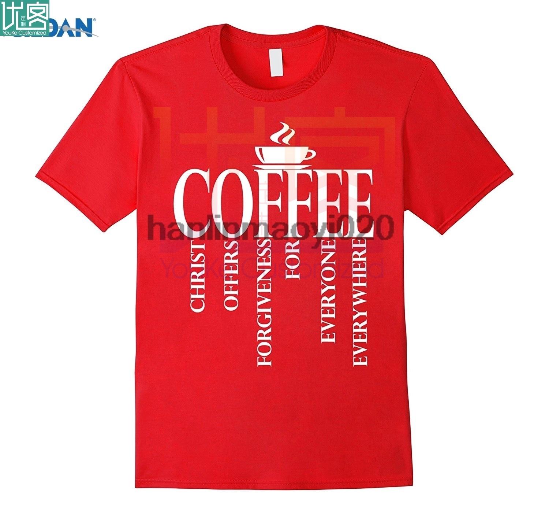 Jesus café camisa cristo oferece perdão camisa cristã