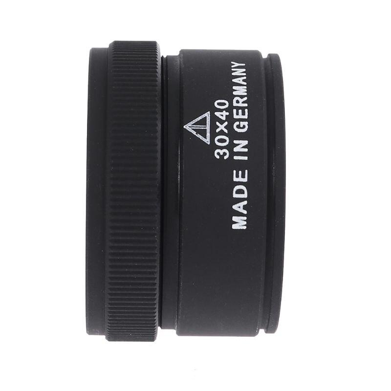Увеличитель со стеклянными линзами оптика лупы Портативный карман для ювелира монеты марки 30X x 40 мм
