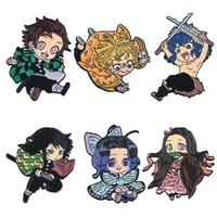 pf434 dongmanli japanese anime icons manga badge cool cute enamel pins custom brooches lapel jewelry for fans friends kids gift