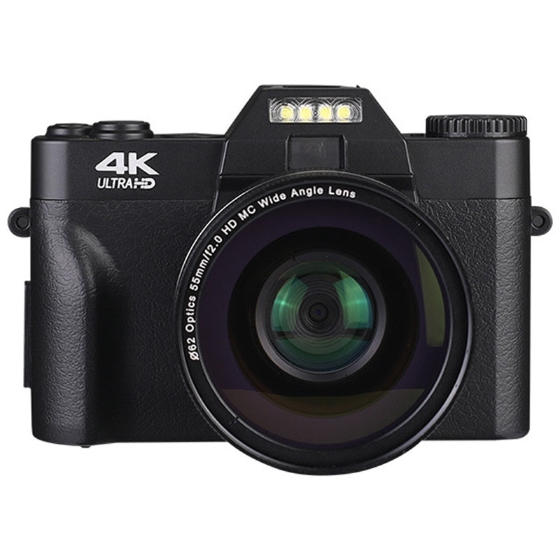 كاميرا فيديو رقمية احترافية 4K ، كاميرا فيديو UHD مع تقريب رقمي 16X ، YouTube ، WIFI ، محمول