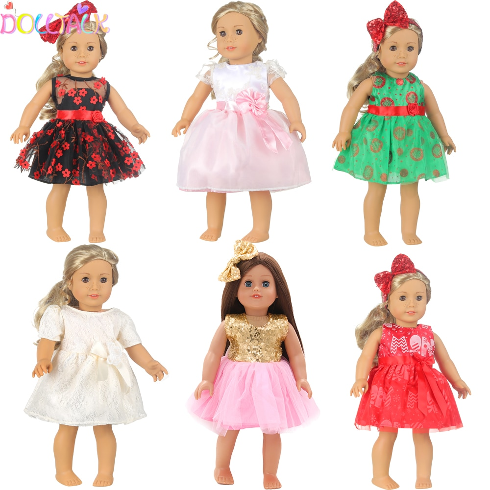 AliExpress - 15 Colors Princess Doll Dress Doll Clothes For 43cm Baby New Born Doll Cute Skirt Dress For 18Inches American Dolls Gift