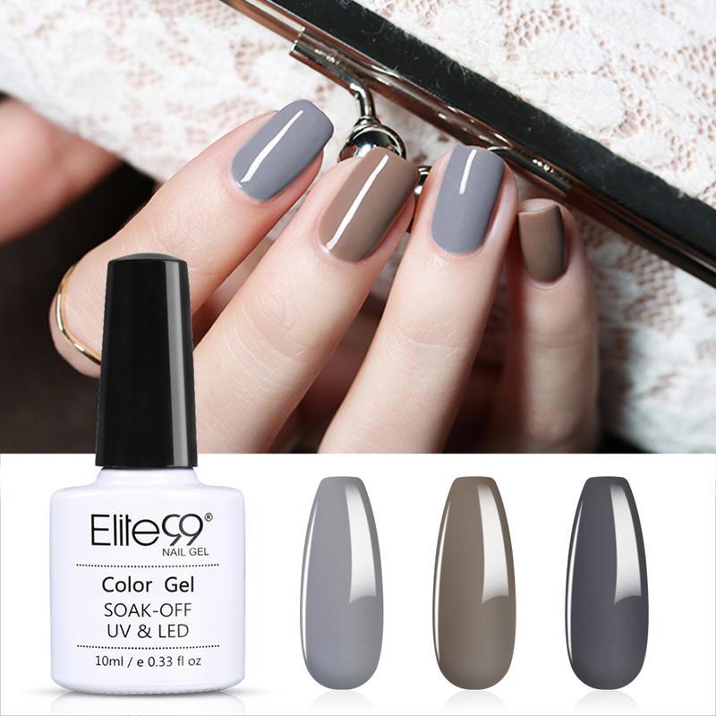 Elite99 3 uds Gel puro de Color conjunto de esmalte de uñas Soak Off UV uña Gel barniz uñas híbridas para manicura Set 10ml esmalte de uñas en Gel