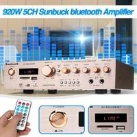 Amplificateur stereo AV Surround 920W 220V 5CH  bluetooth  HiFi  FM  karaoke  cinema a domicile  avec telecommande