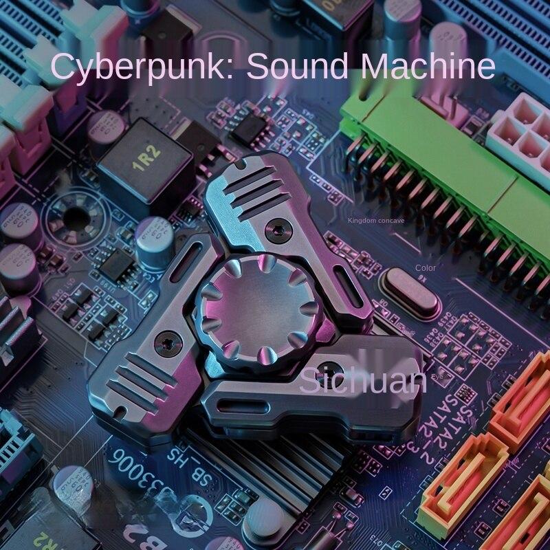 Acoustic Mech Fingertip Gyro Cyberpunk Metal Pressure Reduction Toy