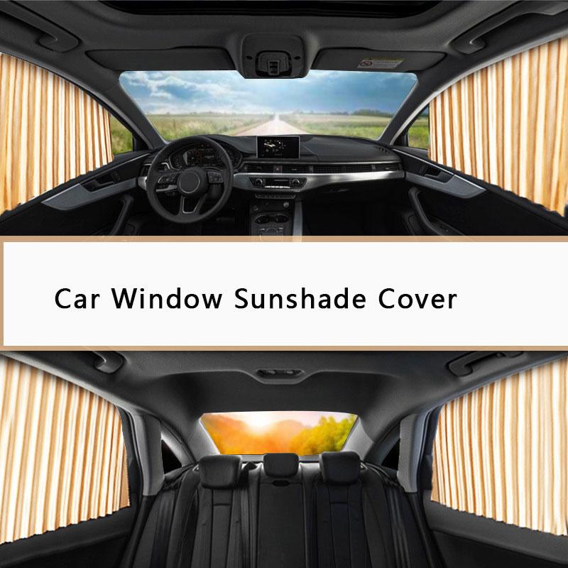 Universal Car Window side Sunshade Cover UV Protection car Window retractable SunShade Car Window Curtain Car Magnetic Sunshade enlarge