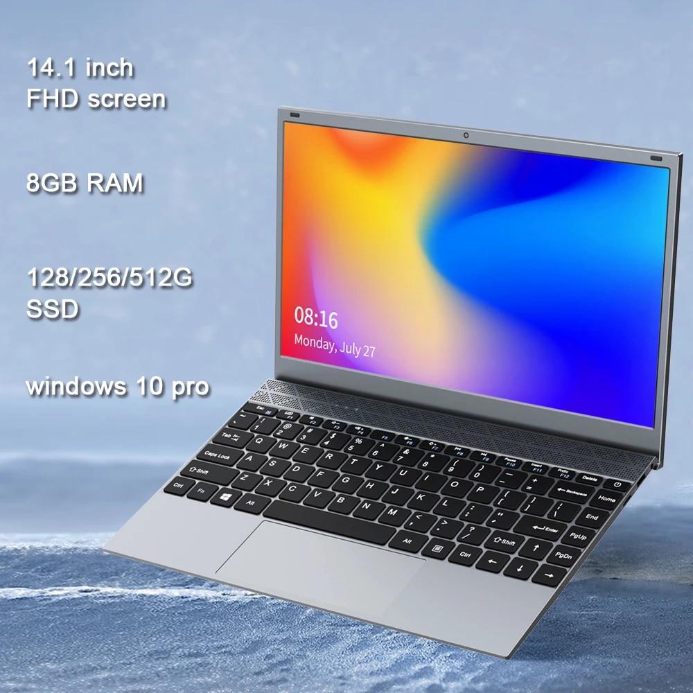 14.1 Inch 8GB DDR4 RAM Student Computer Intel Processor Bluetooth WiFi Windows 10 laptop Full Size Keyboard Student Notebook