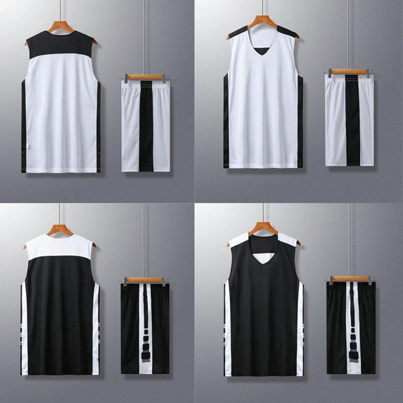 Camisa de basquete & shorts masculino feminino equipe de basquete uniforme roupas esportivas em branco conjunto de basquete dupla face usar terno de treinamento