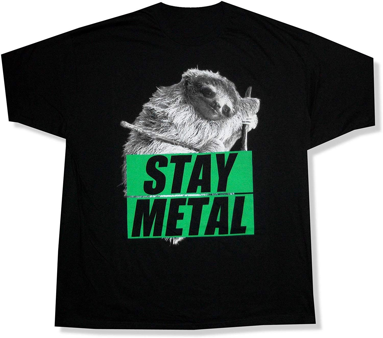 Miss May I Sloth Stay Metal negro camiseta hombres mujeres camiseta marca ropa Tops