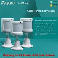 Датчик человеческого тела Aqara, умная Беспроводная система охранной сигнализации ZigBee, датчик движения Aqara для Xiaomi Mijia MiHome Homekit