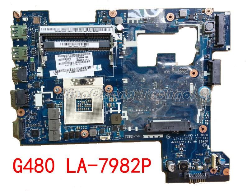 Laptop Motherboard para Lenovo G480 HOLYTIME 14 Polegada LA-7982P placa gráfica integrada GMA HM76 QIWG5 HD4000 DDR3