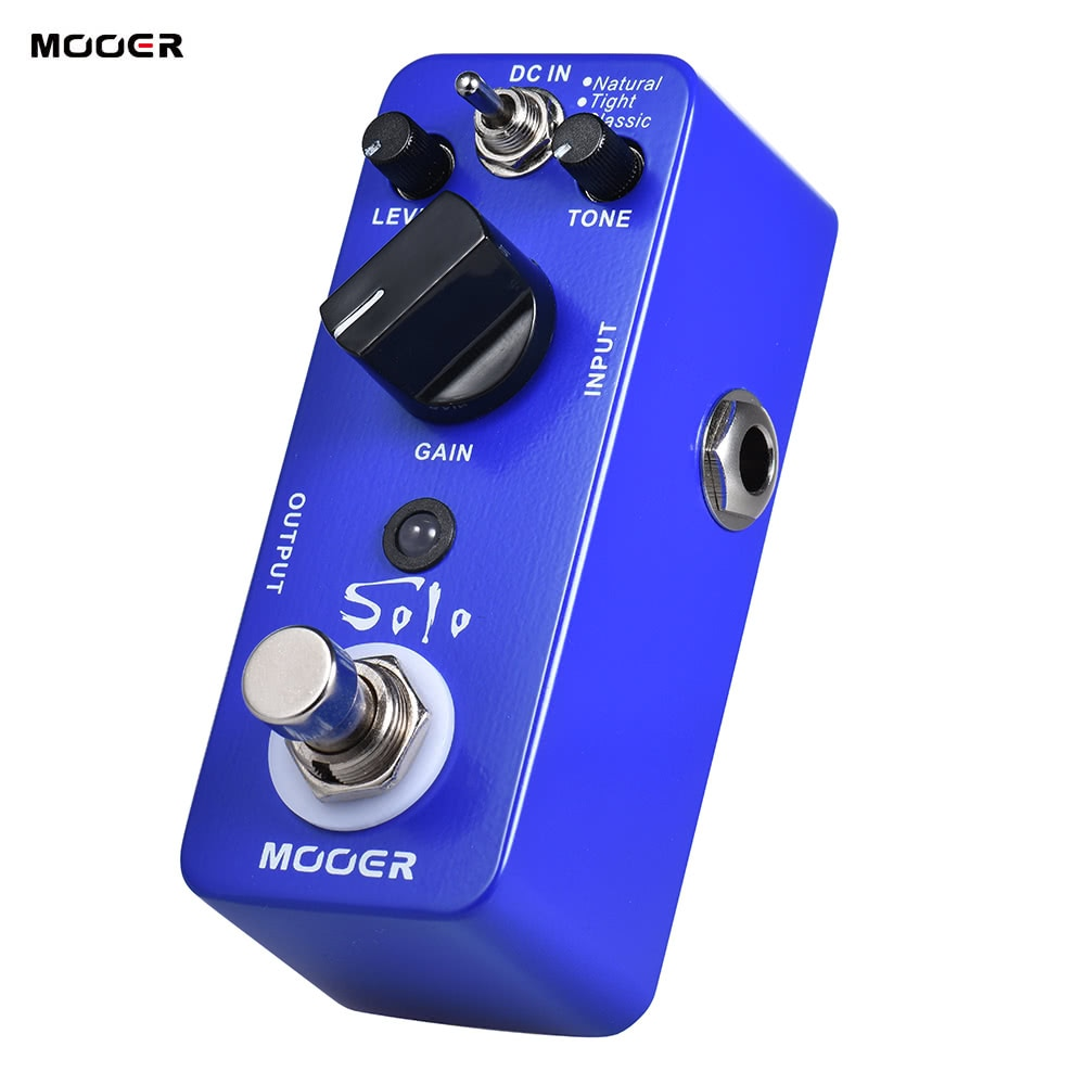 Mooer Solo Electric Guitar Pedal Distortion Instruments Musical True Bypass Natural Tight Classic MDS True Bypass 3 Modes enlarge