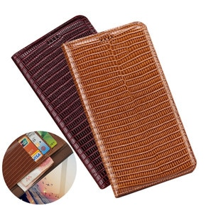 Lizard grain genuine leather wallet phone bag card holder for Umidigi A9 Pro/Umidigi A7/Umidigi A7 Pro/Umidigi A5 Pro phone case