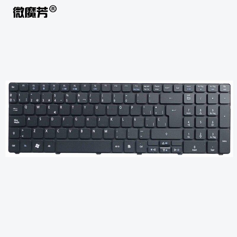 Español teclado del ordenador portátil para Acer para Aspire 5740 5810T 7735...