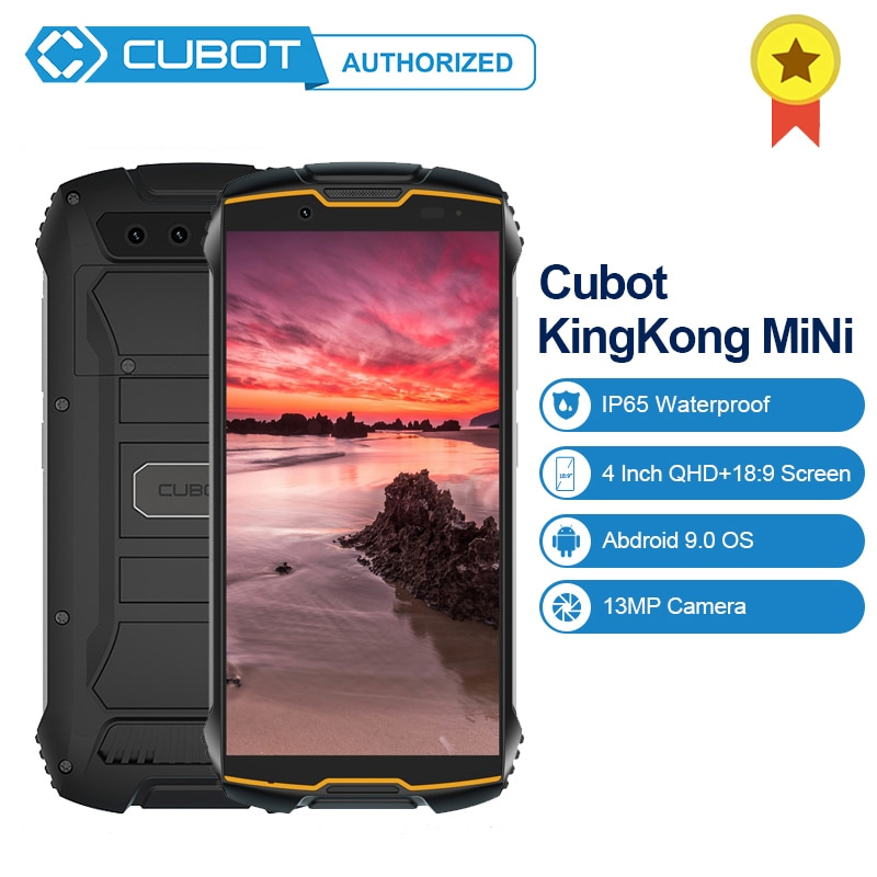 "Cubot KingKong MiNi Android9.0 3GB + 32GB 4 ""QHD + 189 Bildschirm MT6761 Quad Core IP68 Wasserdicht 4G LTE Dual-SIM 2000mAh Smatphone"
