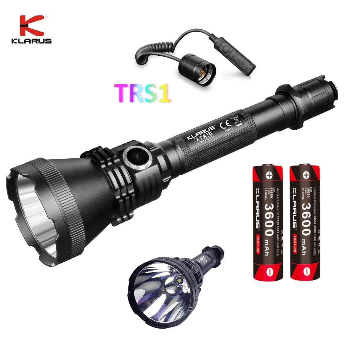 klarus xt32 lanterna led cree xp l oi v3 1200lm 1000m luz da tocha por 18650 bateria
