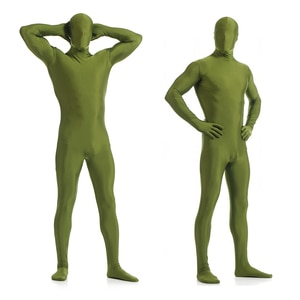 Zentai Skin Suit Catsuit Halloween Costumes Adult Bodysuit Unisex unitard customized for open eyes mouth add crotch zipper