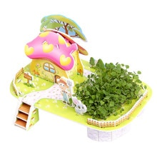 3D three-Dimensional Puzzle planting Intelligence DIY Paper Toys For Children Puzzles Jigsaw Baby Ed