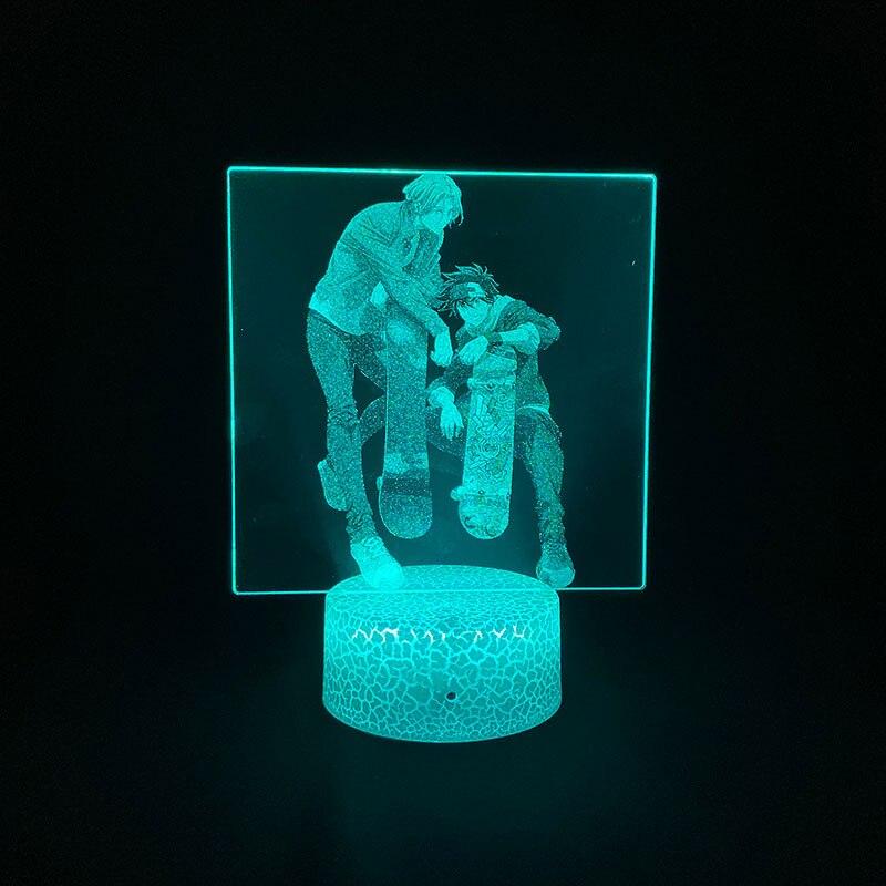 ثلاثية الأبعاد صورة مصباح أنيمي SK8 إنفينيتي هاتف ذكي غرفة التحكم الديكور المراهقين الكرتون أنيمي شخصية هدية أباجورة