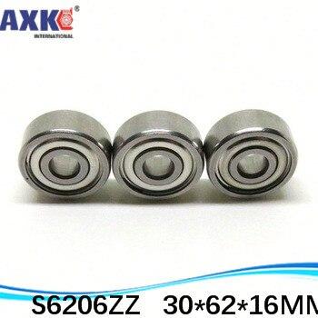 1 Uds. SUS440C rodamientos de bolas de ranura profunda de acero inoxidable resistentes a la corrosión ambiental S6206ZZ 30*62*16mm