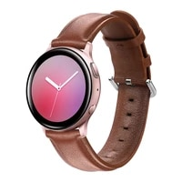 20mm 22mm genuine leather watchband for samsung galaxy watch 42mm huawei active2 40mm 44mm leather band steel clasp strap belt