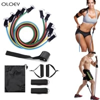 upgrade latex resistance bands crossfit training body exercise yoga tubes pull rope chest expander pilates fitness equipment