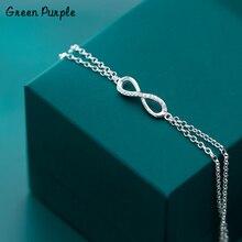 925 Silver Infinite Bracelet Punk Jewelry Charm Bracelet Bijoux Minimalism Bangles Vintage Joyas Boho Silver Bangles for women