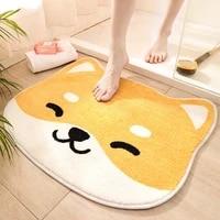japanese style animal kawaii rug creative anime rugs for bedroom decor small fur rug cute room decor bath mats bathroom mat