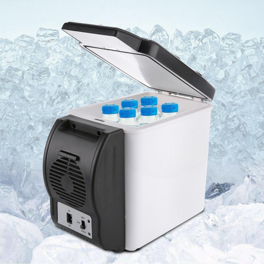 6l refrigerator freezer heater 12v mini car fridge cooler 12V 6L Capacity Portable Car Refrigerator Cooler Warmer Mini Travel Fridge Freezer for Home Dorm Cooling Box Frigobar Geladeira