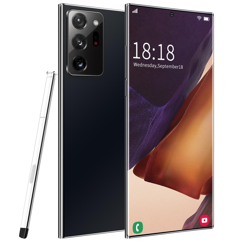 نوت 20 + برو Xs 6.9 بوصة 256/512gb الوجه فتح 5000mah 18 + 48mp الهواتف المحمولة Mtk6889 كامل الشاشة هاتف ذكي 5g