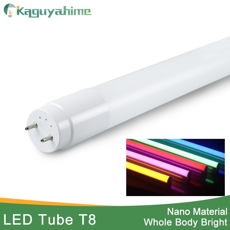 Kaguyahime RGB 360 Degrees Bright LED Tube T8 Light 220v 60cm 600mm 10w LED T8 Integrated Driver Flu