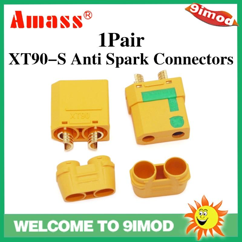 NewAmass 2 uds XT90-S conectores Anti chispa macho hembra XT90S cubierta funda a prueba de chispas para RC Lipo batería piezas DIY