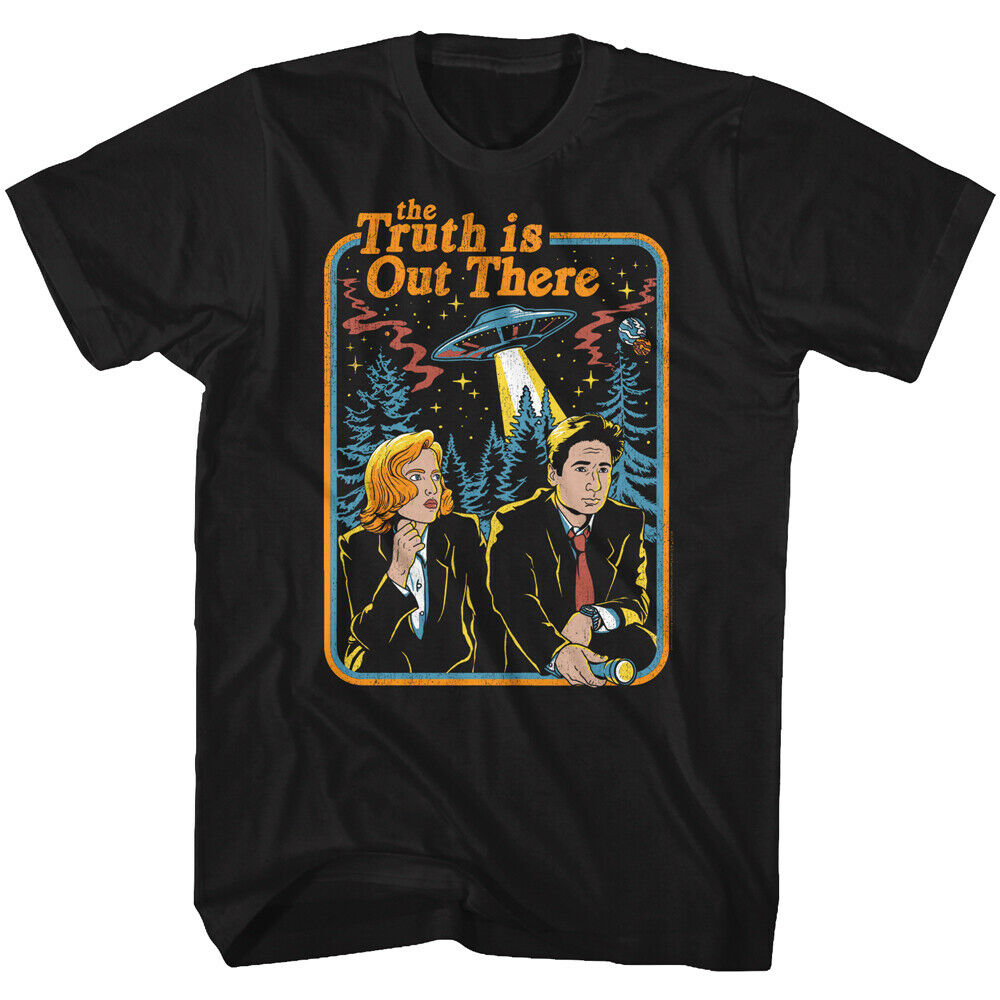 Camiseta para adultos a todo Color con imagen de Tv de ciencia ficción The X Files