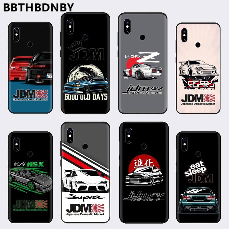 racing car JDM cartoon Phone Case For Xiaomi Redmi 4x 5 plus 6A 7 7A 8 mi8 8lite 9 note 4 5 7 8 pro