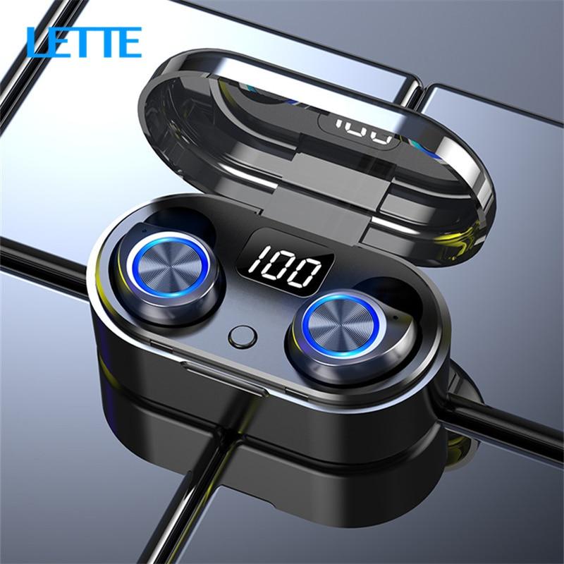 Auriculares Bluetooth 5,0 TW80 TWS llamada Binaural batería LED pantalla portátil en los oídos