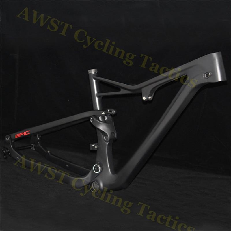 XC-AM Marco de bicicleta Enduro de carbono ligero OEM 27. 5er/29er eje compatible 148X12 boost bike Marco de suspensión de carbono excelente