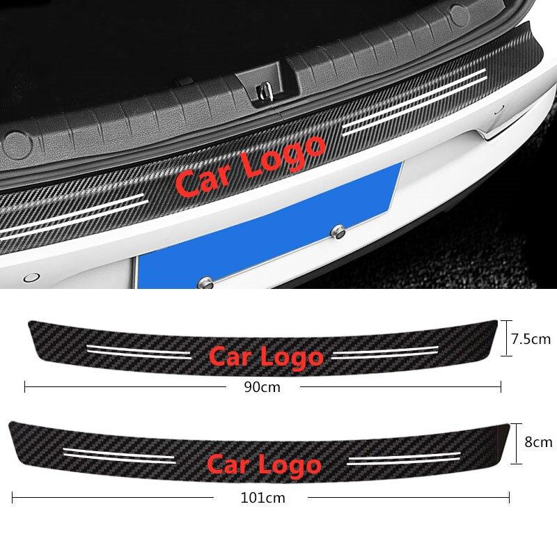 Tronco Traseiro Protetor De fibra de Carbono Da Cauda do carro Adesivo Para BMW M3 M5 M6 X1 X3 E46 E90 E39 F10 F20 F30 E60 E36 G20 Acessórios