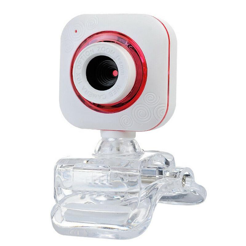 Rotatable Web Camera HD Webcams USB PC Computer Camera Built-in Night LED Lights for Laptop Live Broadcast Video Calling Work