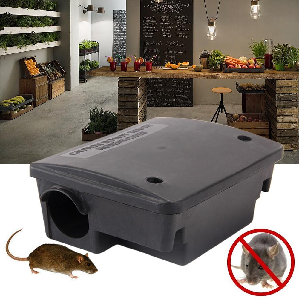 Caja de cebo de cocina duradera para Control de plagas en interiores y exteriores trampa para ratones portátil para oficina doble bloqueo antiratones esquina de la casa para balcón