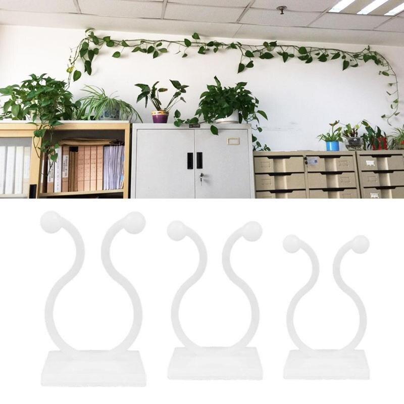 100 Uds adhesivo abrazadera de cable de sujeción protector de cable organizador de las plantas de vid trepadora guías clips soporte fijo holdersHOT1