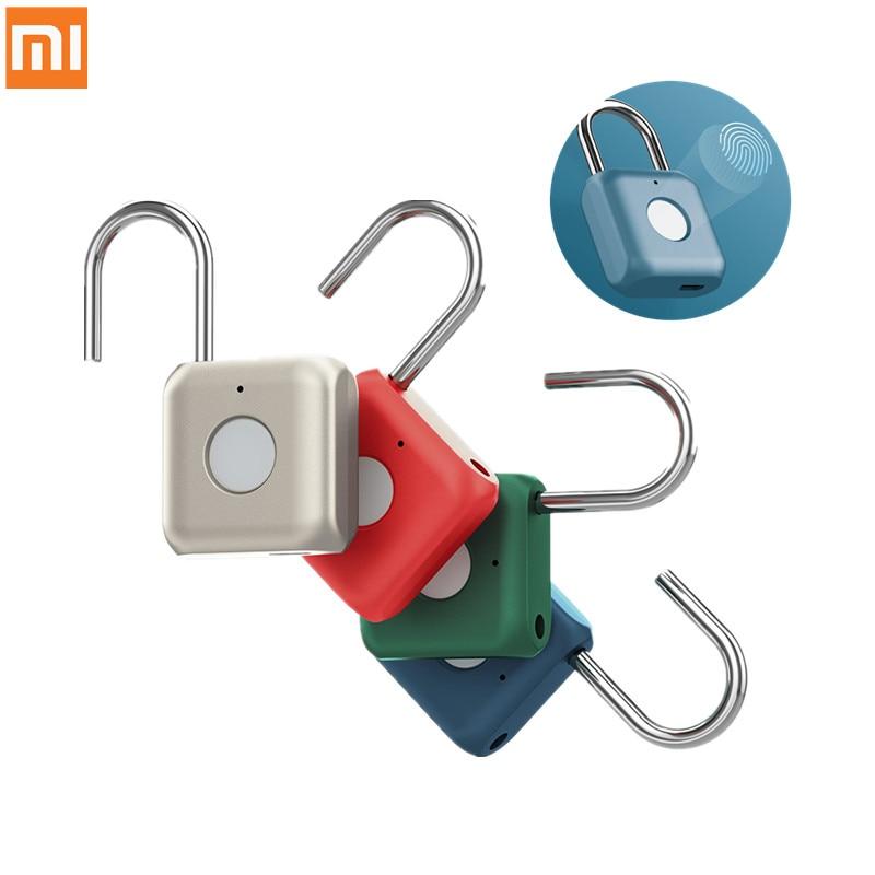 شاومي كيتي الذكية اللمس بصمة قفل الباب USB شحن بدون مفتاح مكافحة سرقة قفل Mijia السفر حافظة درج قفل السلامة