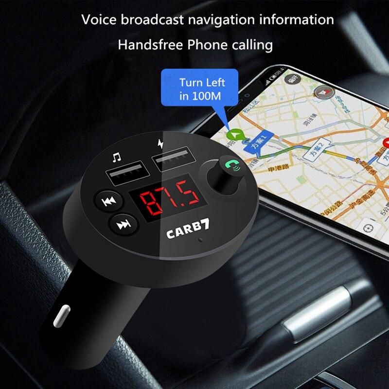 Kit de reproductor de música para coche, transmisor FM Bluetooth 5,0, pantalla...
