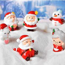 Рождественский Санта-Клаус, снежный пейзаж, милое украшение, искусственные полимерные материалы, миниатюрные садовые фигурки, домашний дек...