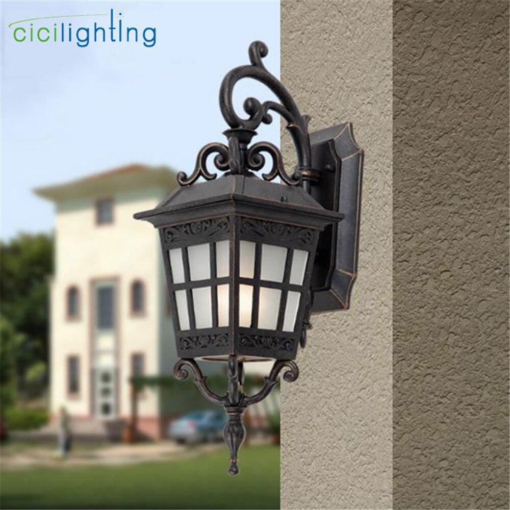 Vintage Retro 220v 110v Glass Outdoor Waterproof Wall Lighting Lamp Sconce for Street Home Porch Gate Balcony Veranda House Lamp enlarge